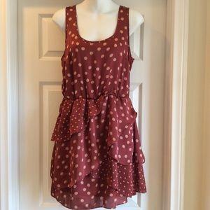 Lauren Conrad Rust Sleeveless Dress Size 10